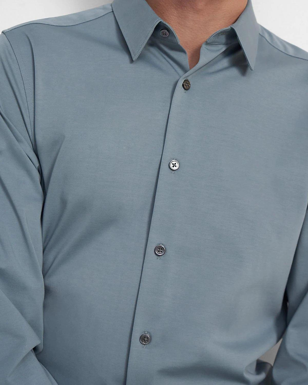 The Sylvain Shirt in Structure Knit