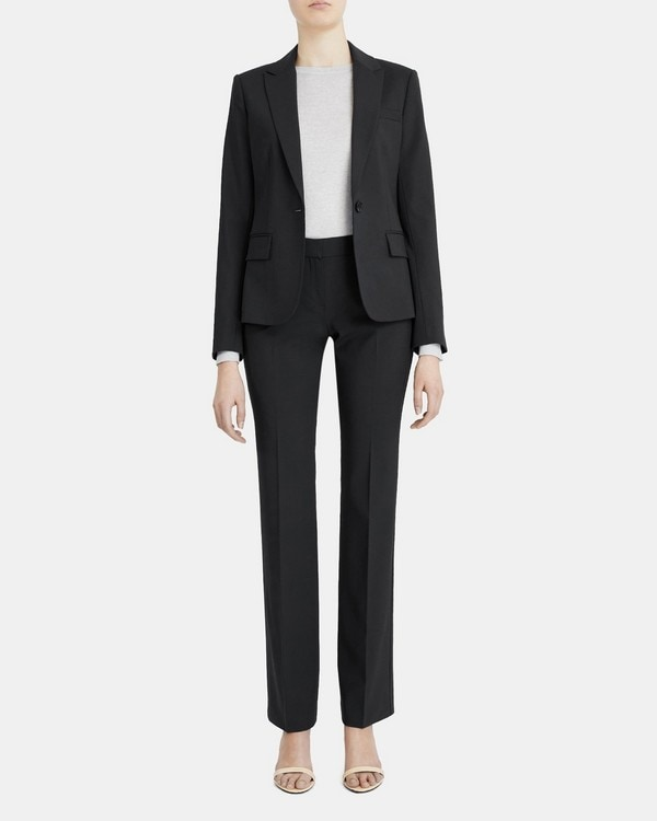 띠어리 Theory Slim-Fit Blazer in Stretch Wool,BLACK
