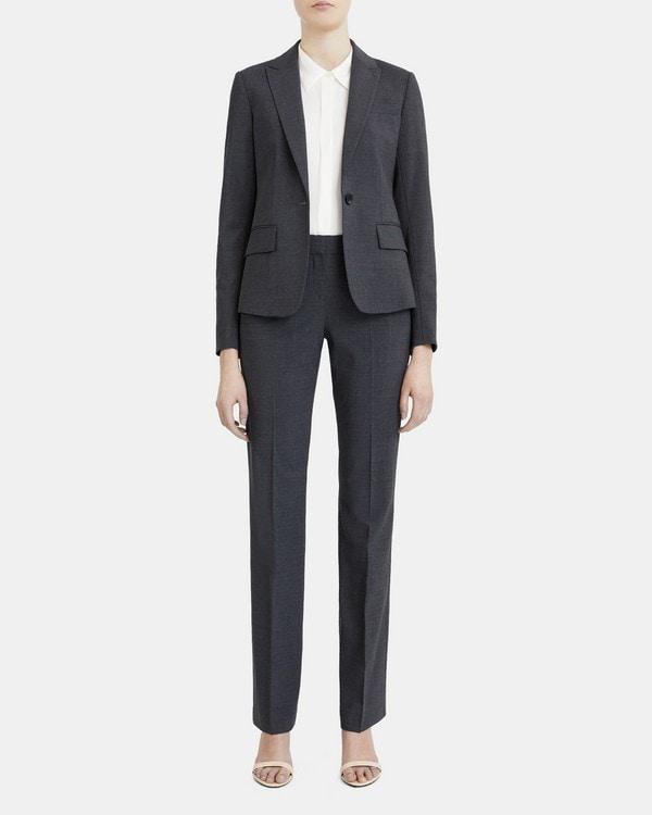 띠어리 Theory Slim-Fit Blazer in Stretch Wool,CHARCOAL