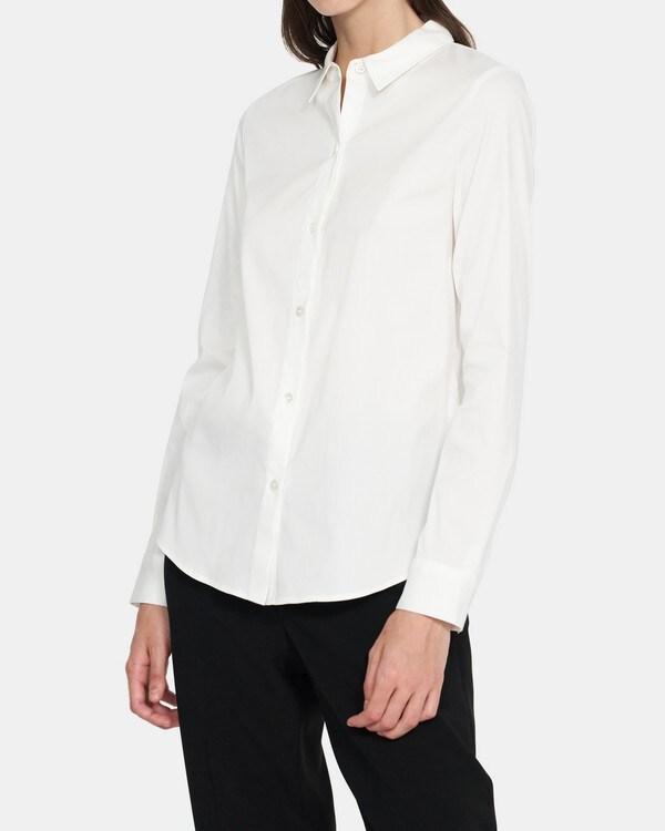 띠어리 Theory Stretch Cotton Slim Shirt,WHITE