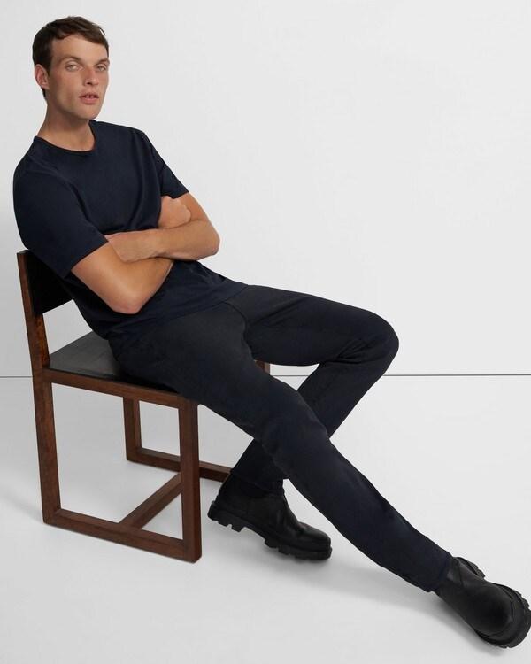 띠어리 데님진 Theory J Brand Kane Straight Fit Jean in French Terry,KECKLEY DEPTH