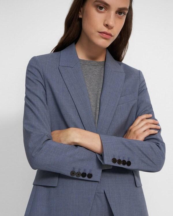 띠어리 블레이저 Theory Etiennette Blazer in Good Wool,BLUE GREY MELANGE