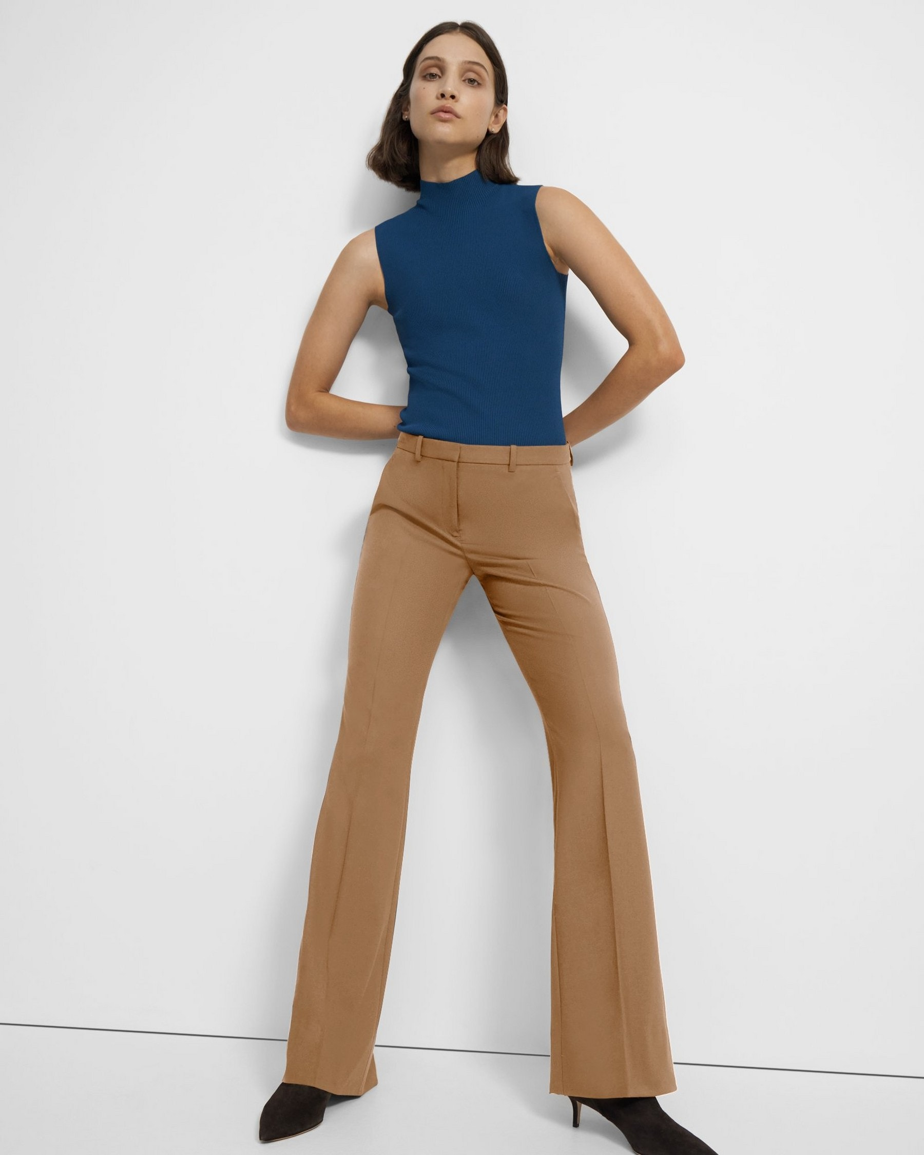 Theory Demitria Pant in Good Wool