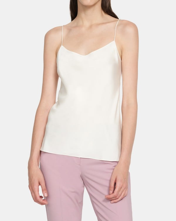 Theory Teah Top in Stretch Silk