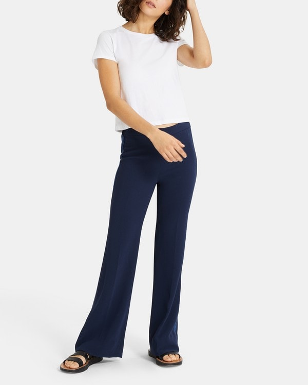 Theory Leisure Flare Pant in Crepe
