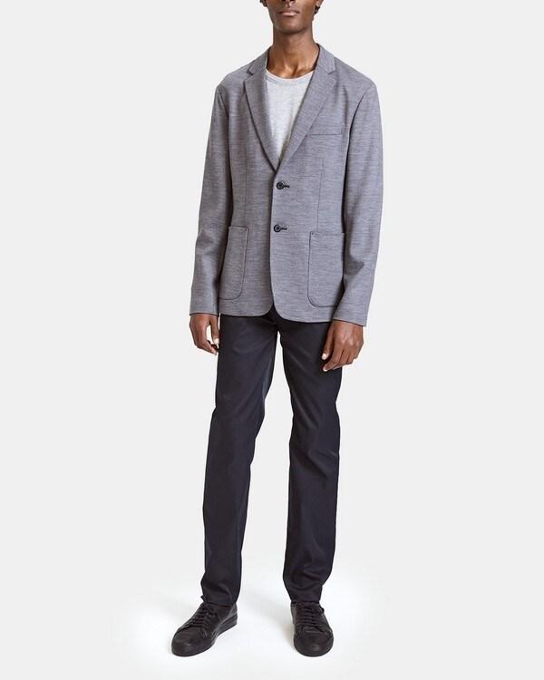 띠어리 맨 언스트럭쳐드 자켓 Theory Unstructured in Wool Interlock Jacket,DARK GREY MELANGE