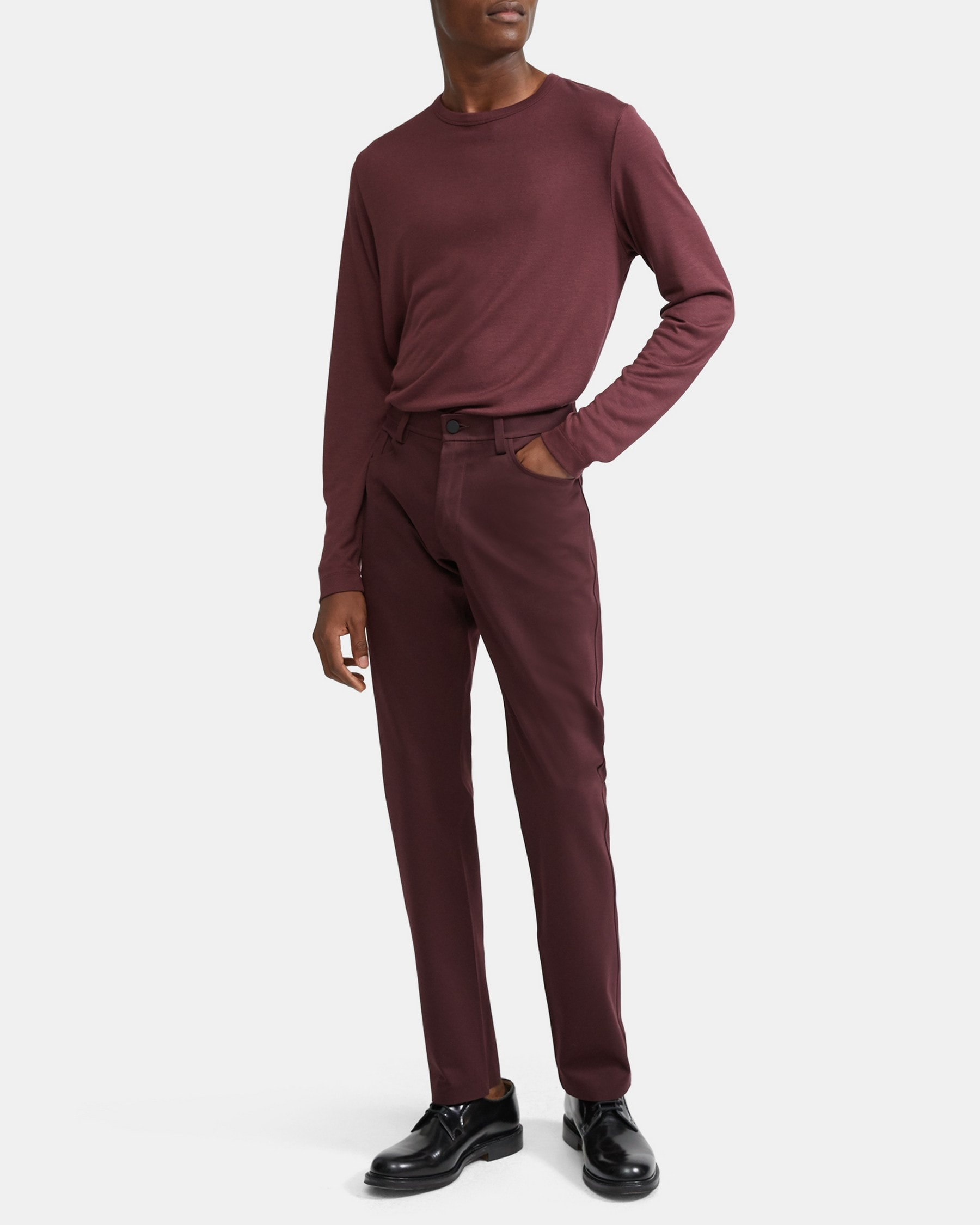 Theory Tech Raffi 5-Pocket Pant in Compact Ponte