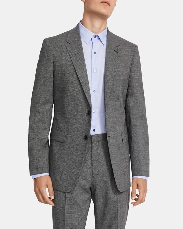 띠어리 맨 챔버스 셋업 자켓 Theory Chambers Blazer in Marled Stretch Wool,BLACK MULTI
