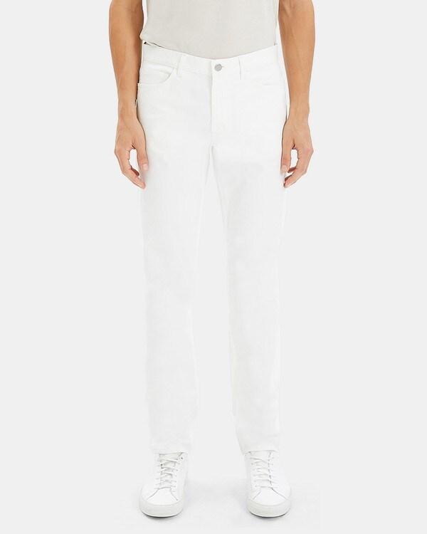 띠어리 Theory Five-Pocket Pant in Stretch Cotton,WHITE