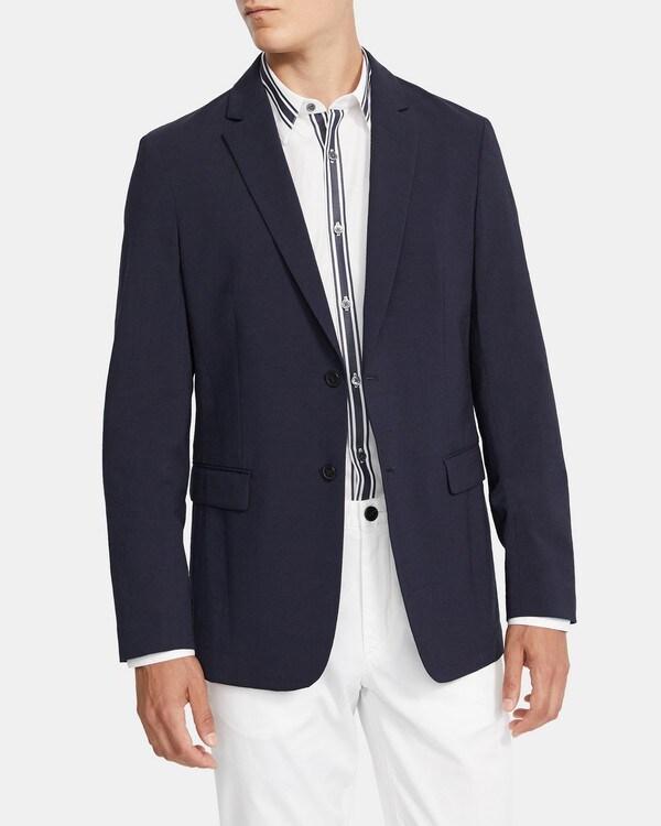 띠어리 맨 수트 자켓 Theory Unstructured Suit Jacket in Seersucker Stretch Wool,ECLIPSE