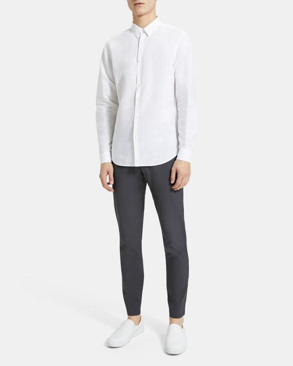 띠어리 Theory Standard-Fit Shirt in Essential Linen,WHITE