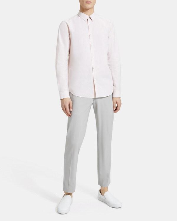 띠어리 Theory Standard-Fit Shirt in Essential Linen,TINT