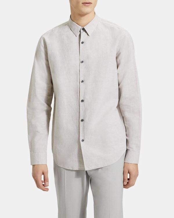 띠어리 Theory Standard-Fit Shirt in Essential Linen,OXFORD
