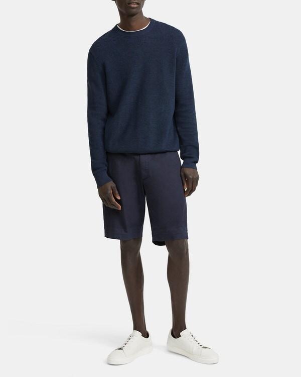 띠어리 Theory Crewneck Sweater in Linen Blend,ECLIPSE