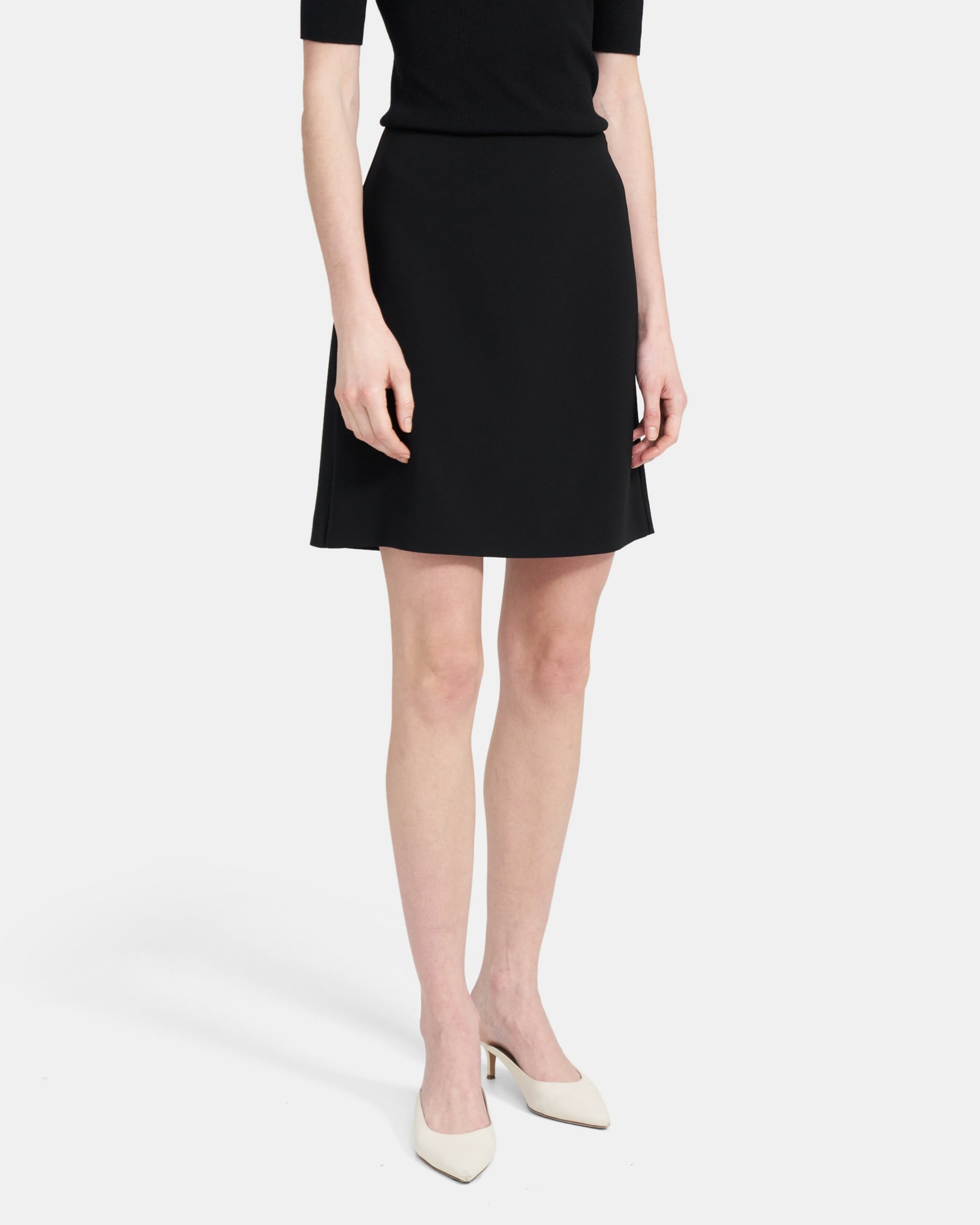 Theory Easy Waist Skirt in Crepe