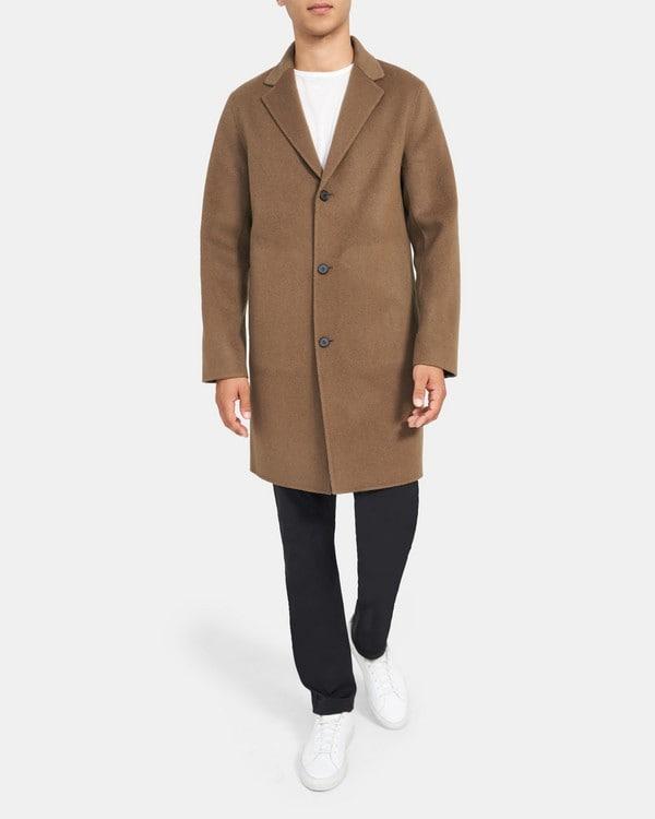 띠어리 맨 테일러드 코트 Theory Tailored Coat in Double-Face Wool-Cashmere,FAWN/BARK