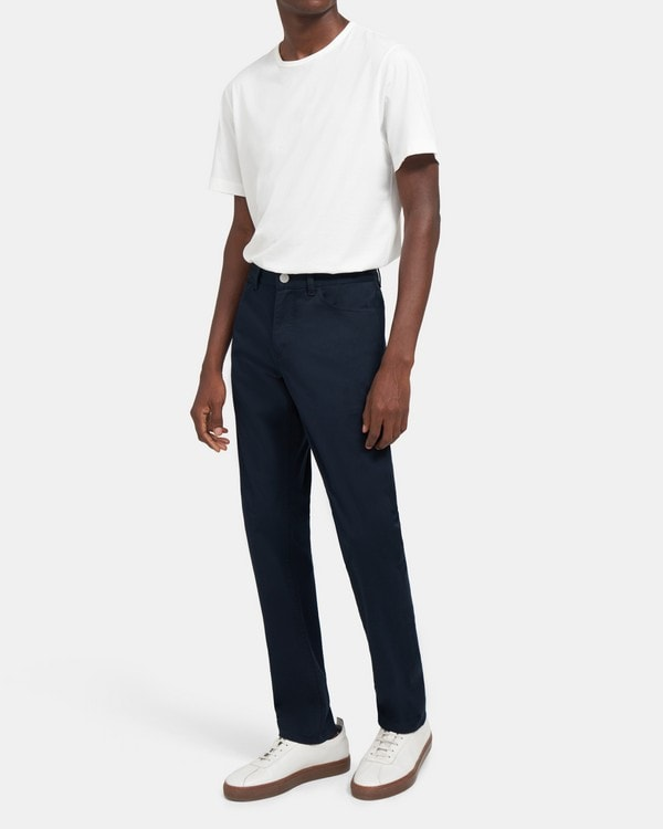 띠어리 Theory Five-Pocket Pant in Stretch Cotton,ECLIPSE