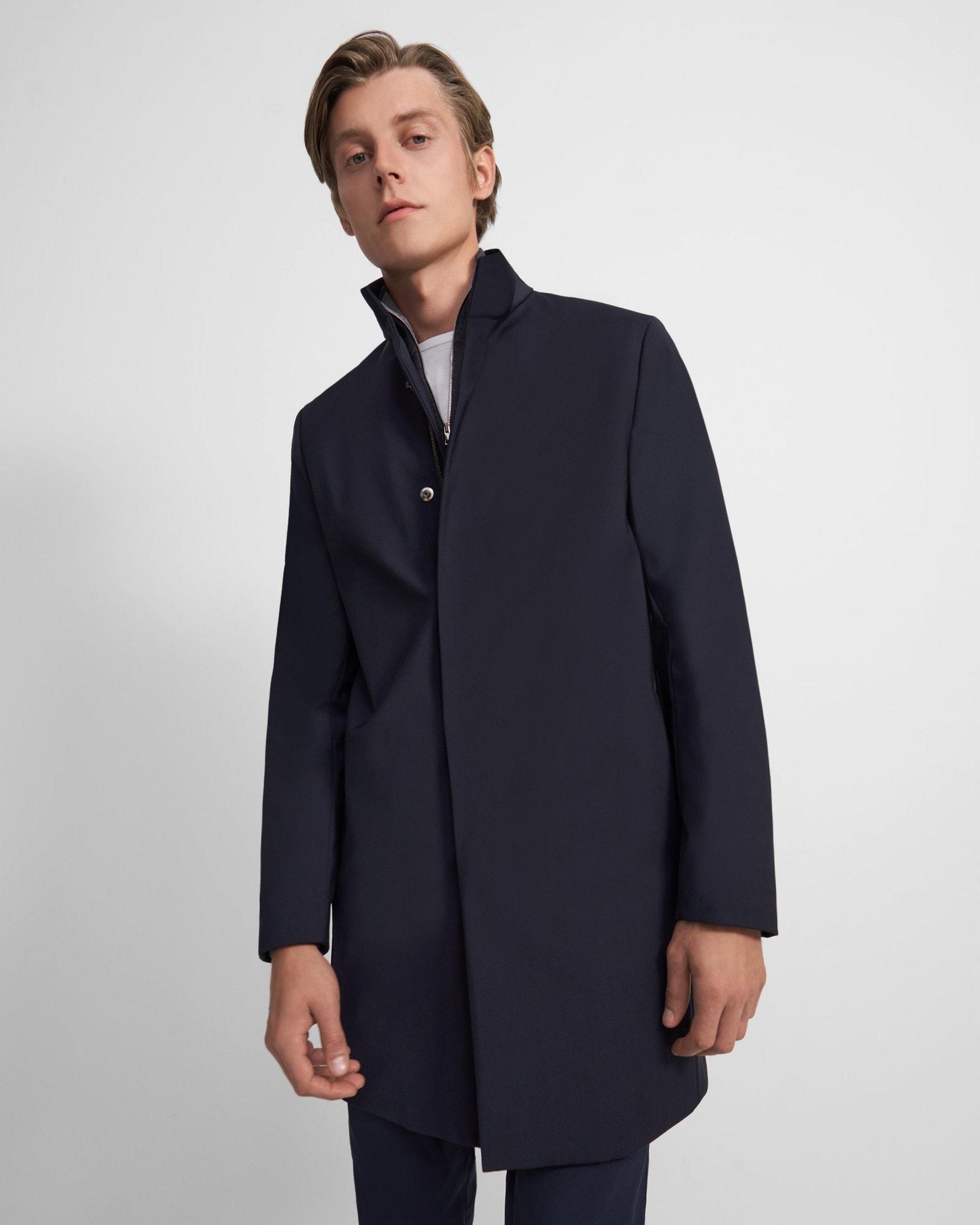 Theory Belvin Coat in Wool Blend