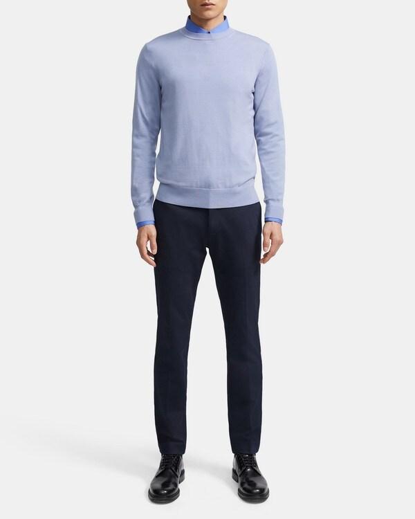 띠어리 Theory Crewneck Sweater in Regal Wool,FROST