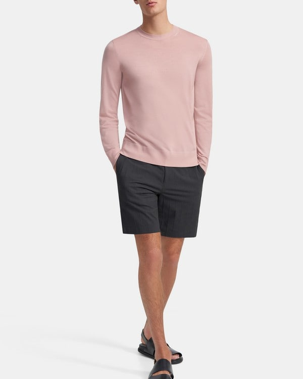 띠어리 Theory Crewneck Sweater in Regal Wool,RUSSO