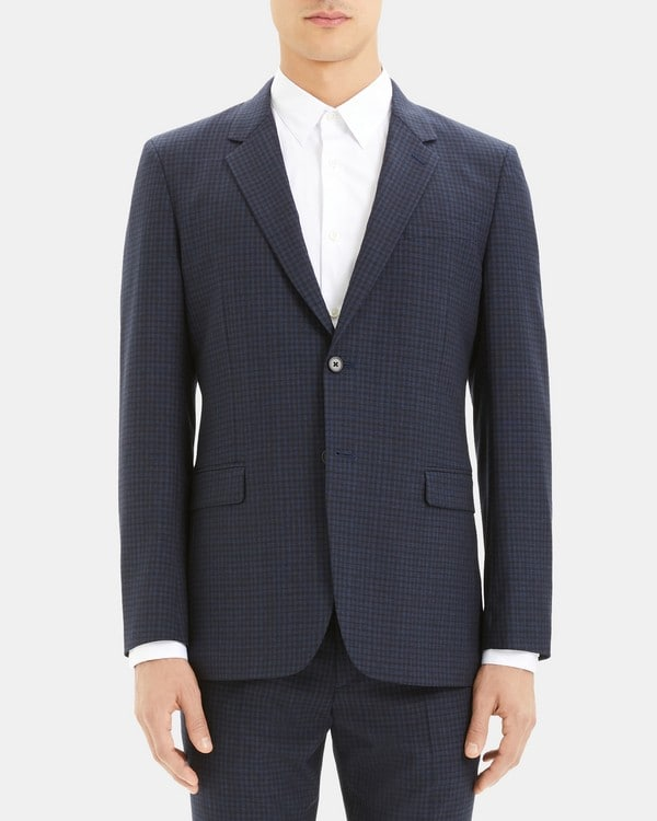 띠어리 맨 블레이저 Theory Chambers Blazer in Checkerboard Wool,ECLIPSE CHECK