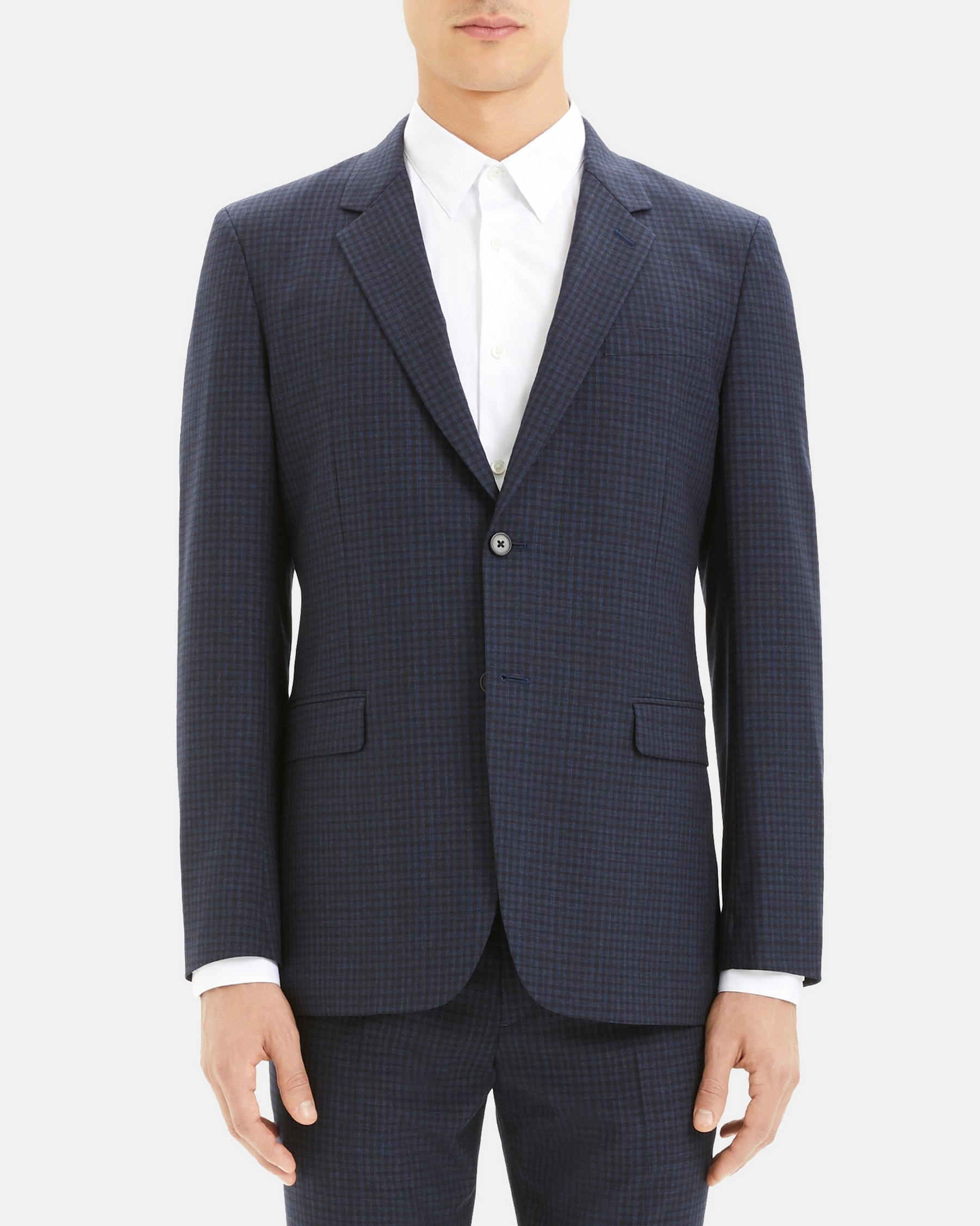 Theory Chambers Blazer in Checkerboard Wool
