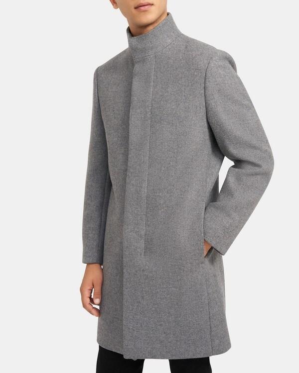 띠어리 Theory Belvin Coat in Recycled Melton,MID GREY MELANGE