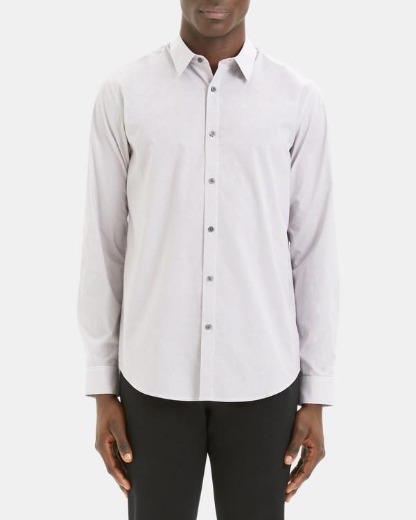 띠어리 Theory Irving Shirt in Printed Cotton,CHIANTI MULTI