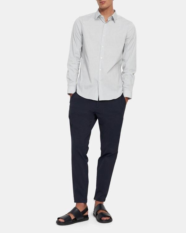 띠어리 Theory Sylvain Shirt in Pinstripe Good Cotton,ECLIPSE STRIPE