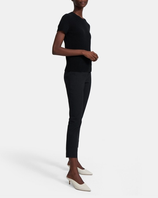 띠어리 스키니 레깅스 Theory Skinny Legging in Eco Stretch Cotton,BLACK