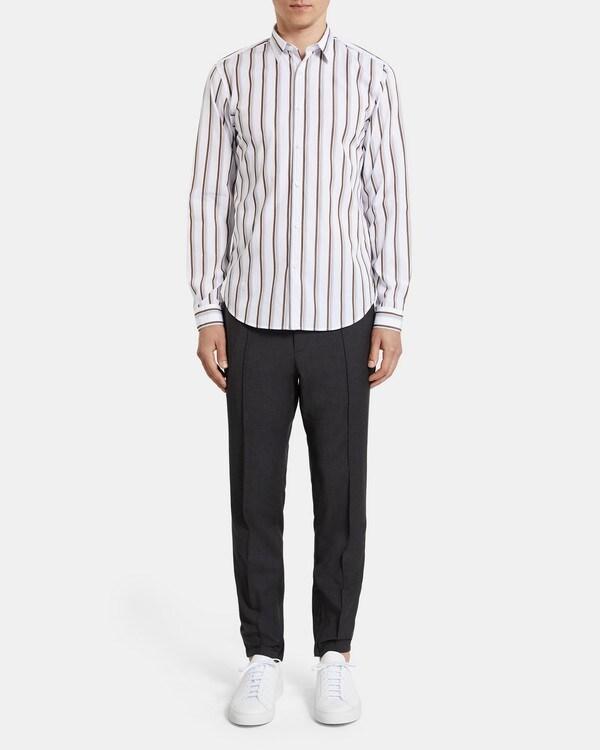 띠어리 맨 파이브 포켓 팬츠 Theory Five-Pocket Pant In Stretch Cotton,DEEP RAVEN