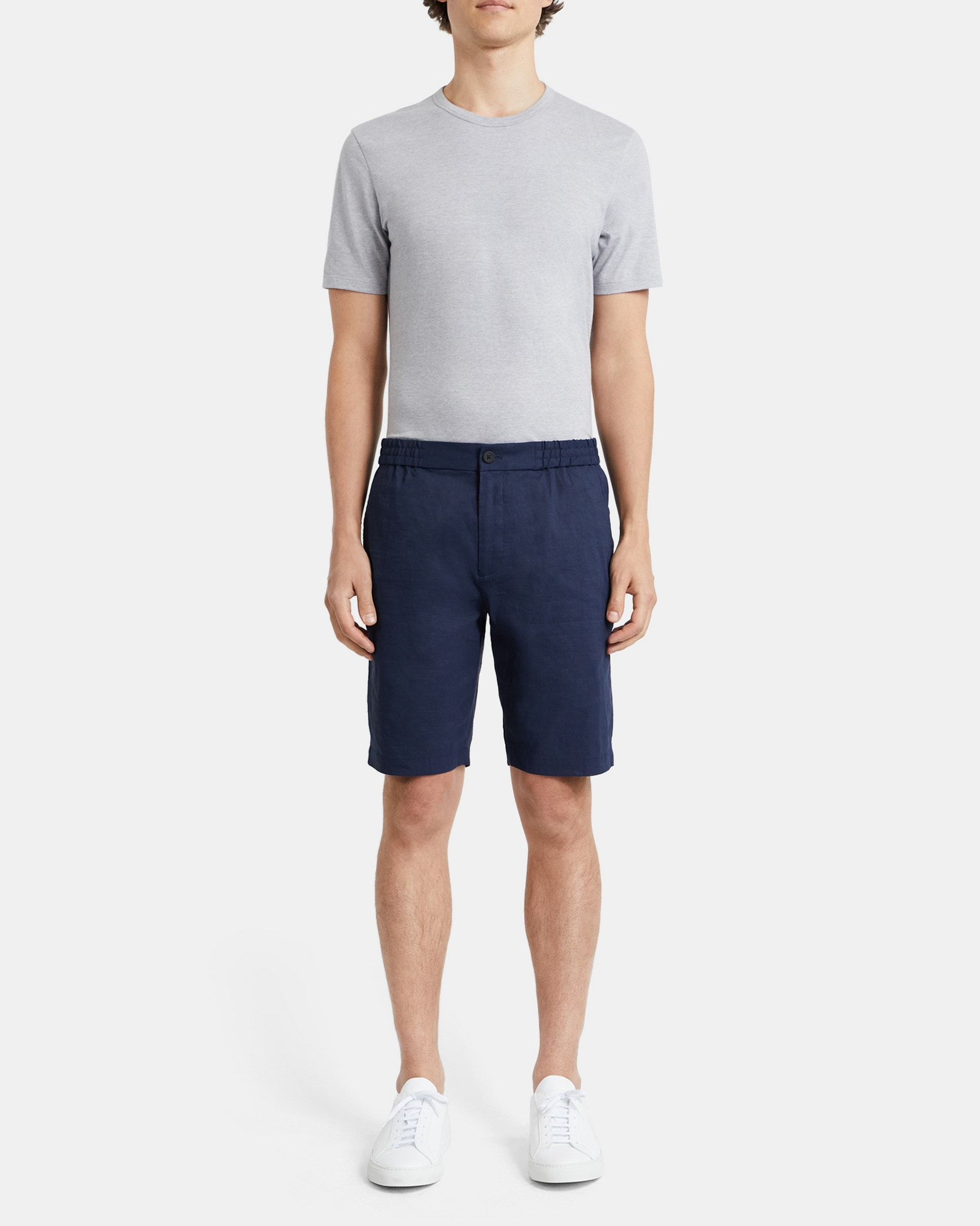 Theory Plymouth Short in Tech Linen