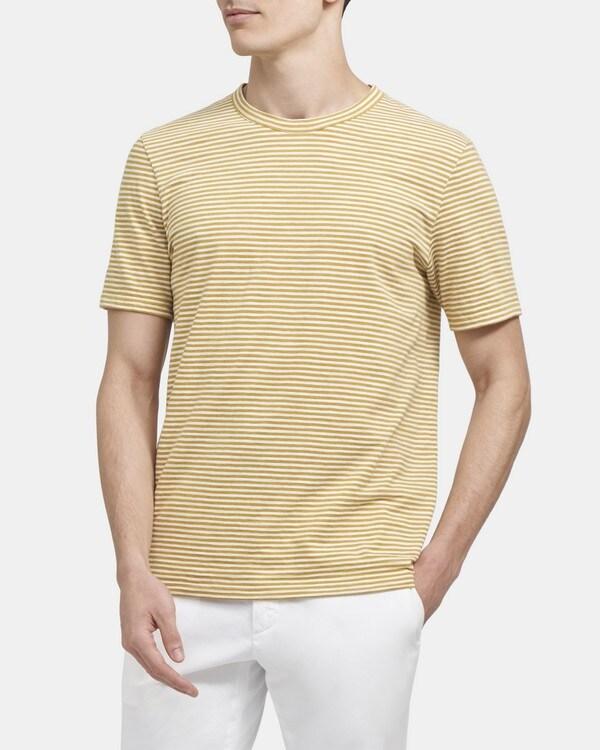띠어리 Theory Crewneck Tee in Striped Cotton,HORIZON/WHITE