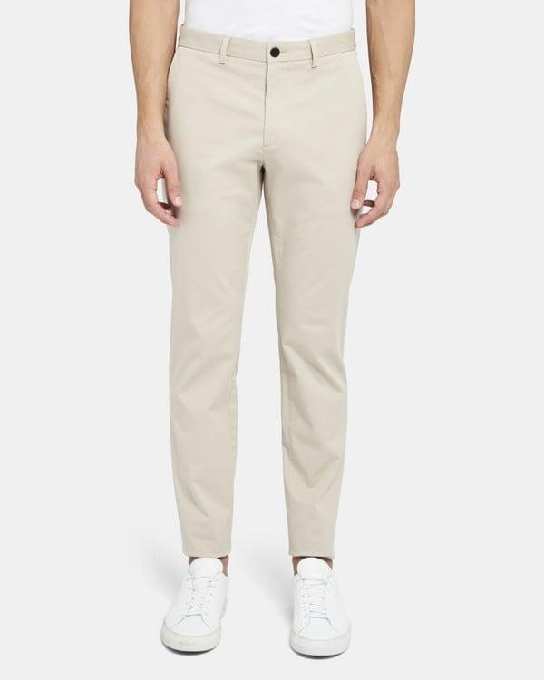 띠어리 Theory Classic-Fit Pant in Stretch Cotton,MUSLIN
