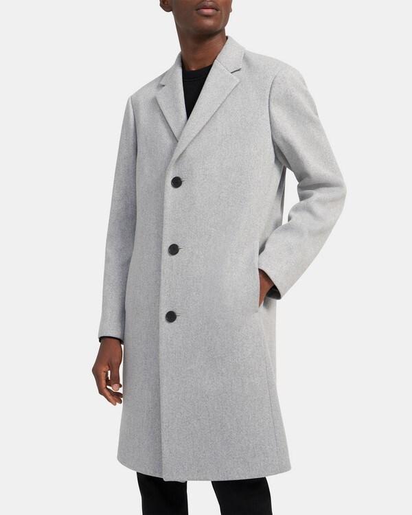 띠어리 Theory Monroe Coat in Wool Twill,LIGHT GREY HEATHER