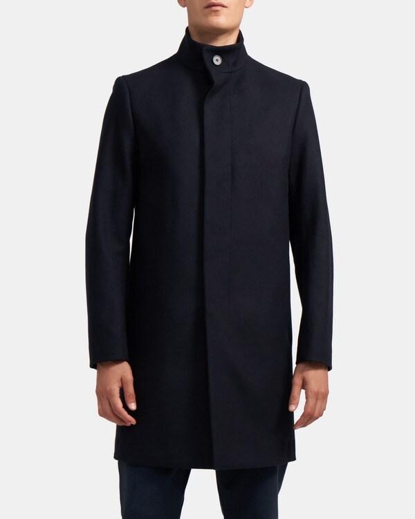 띠어리 Theory Single-Breasted Coat in Wool Melton,ECLIPSE