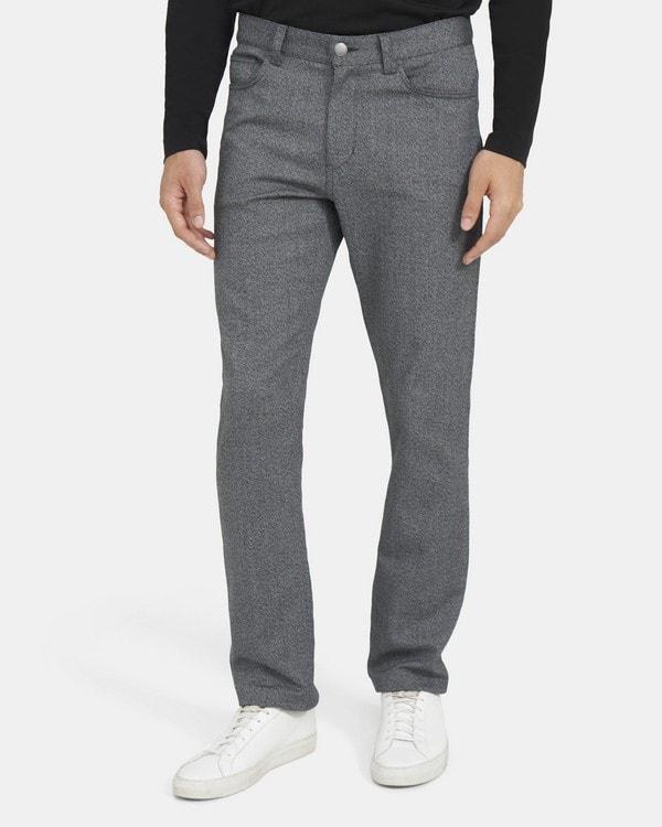 띠어리 맨 파이브 포켓 팬츠 Theory Five-Pocket Pant in Stretch Cotton Twill,GREY MULTI