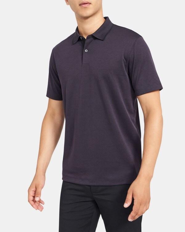 띠어리 맨 스탠다드 폴로 Theory Standard Polo in Pique Cotton,IMPERIAL/BLACK