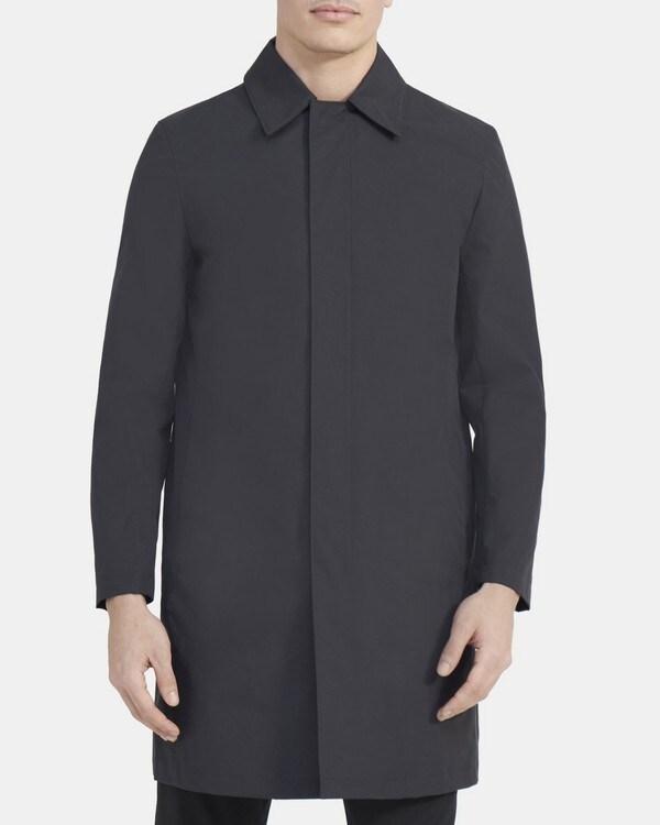 띠어리 Theory Schaffer Coat in Triple-Layer Nylon,SLATE GREY
