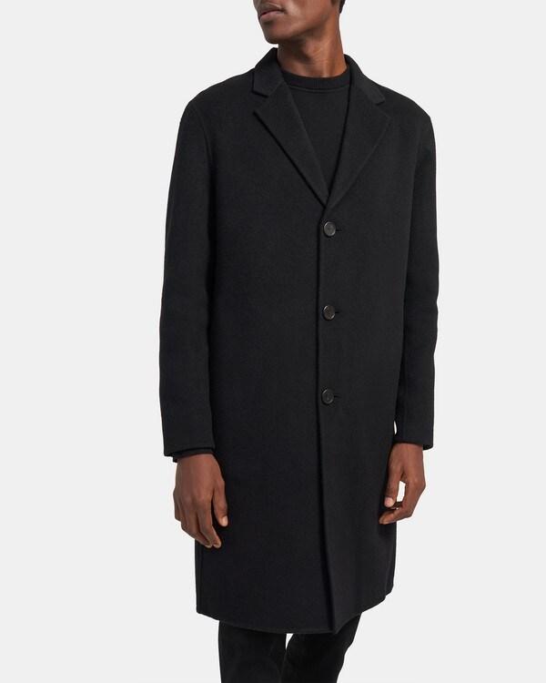 띠어리 Theory Suffolk Coat in Double-Face Cashmere,BLACK