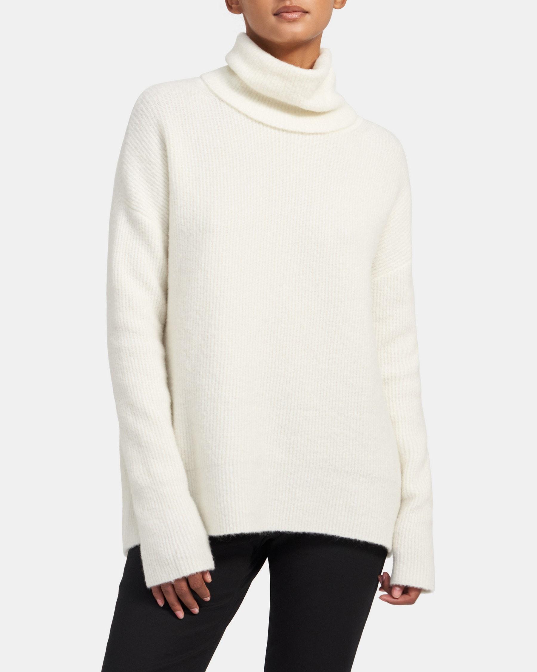 Theory Turtleneck Sweater in Cloud Wool