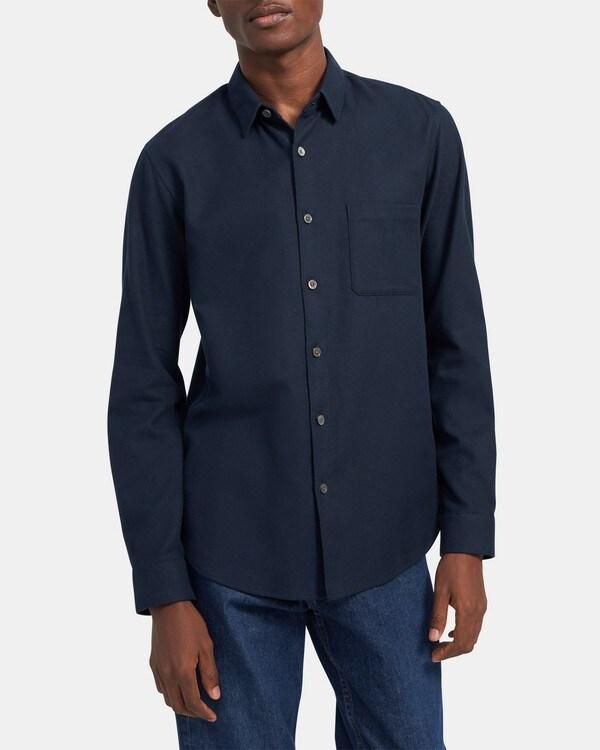 띠어리 Theory Long-Sleeve Shirt in Cotton Twill,ECLIPSE