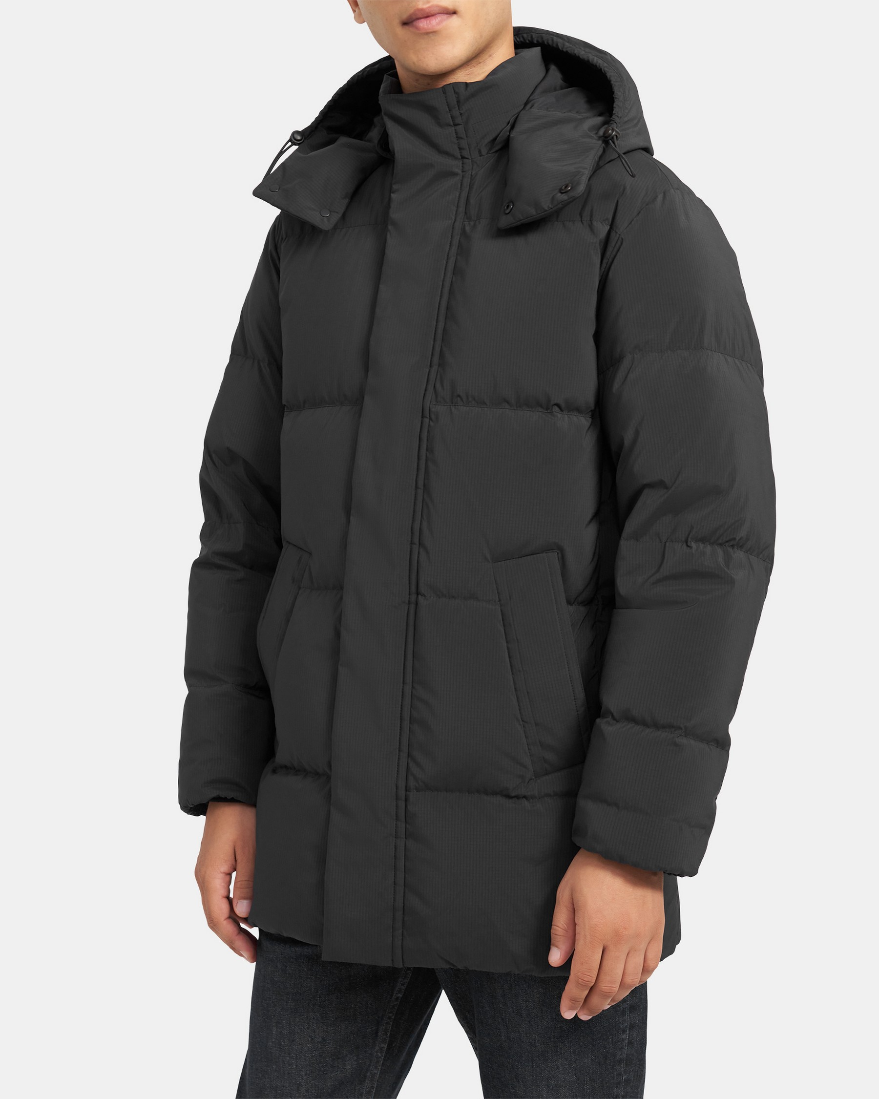 Theory Fulton Puffer Coat in Quilted Shell