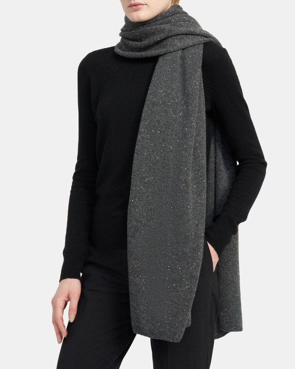 Theory Oversized Scarf in Cashmere