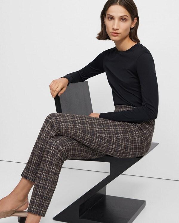 띠어리 레깅스 Theory Skinny Legging in Plaid Knit,MULTI
