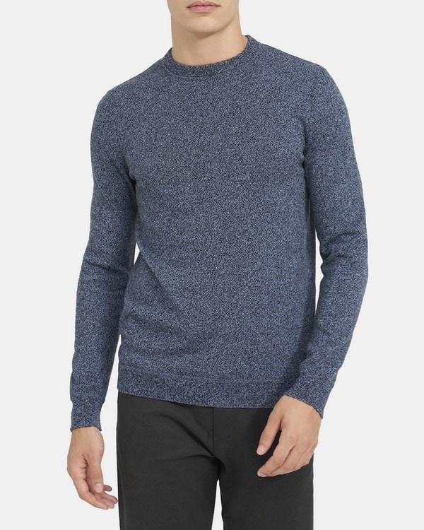 띠어리 맨 크루넥 스웨터, 100% 캐시미어 Theory Crewneck Sweater in Cashmere,SLOPE MIX