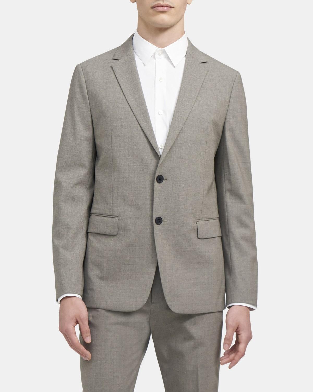 띠어리 Theory Unstructured Suit Jacket in Stretch Wool,SEED MULTI