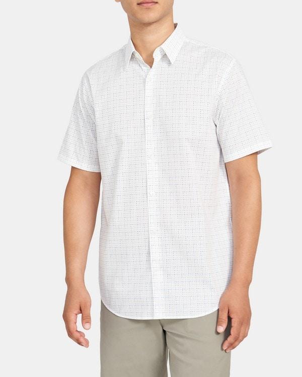 띠어리 Theory Rammy Shirt in Stretch Cotton,WHITE MULTI