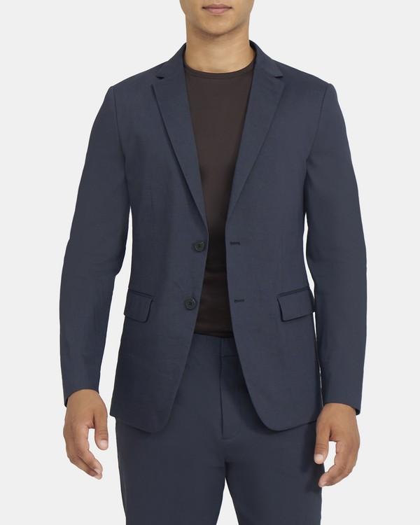띠어리 맨 수트 자켓 Theory Unstructured Suit Jacket in Stretch Linen,ECLIPSE