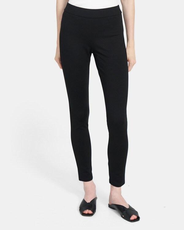 띠어리 레깅스 Theory Legging in Stretch Knit,BLACK